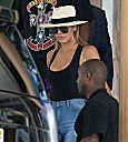 Khloe Kardashian at Lax airport