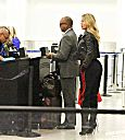 Khloé Kardashian at Lax aiport