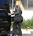 Khloé Kardashian arrives at her hotel