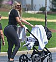 Khloe Kardashian with baby True Thompson