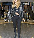 Khloé Kardashian at Lax airport