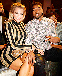 Khloe Kardashian with Tristan Thompson in Miami