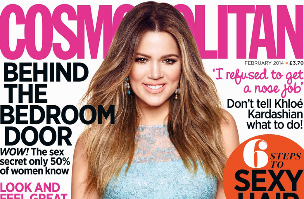 Khloe Kardashian cover of British Cosmopolitan's February 2014 issue