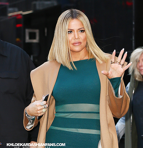 (PHOTOS+VIDEO) January 13,2015: Khloe arriving at Good Morning America in New York