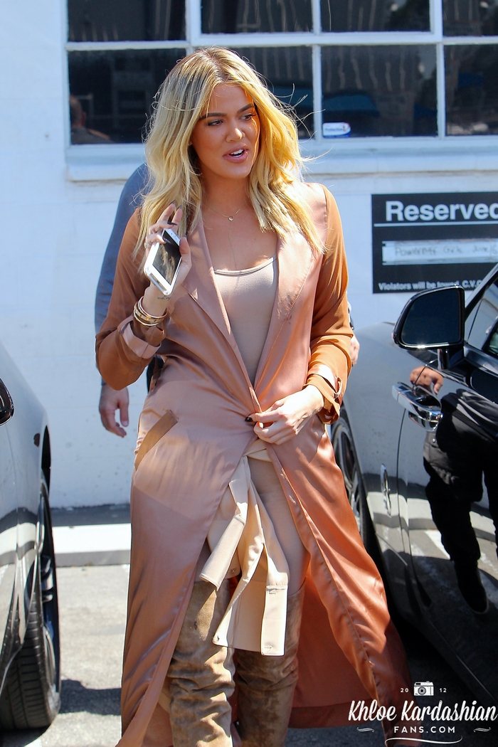 June 16: Khloe leaving the Bunim/Murray Productions studio