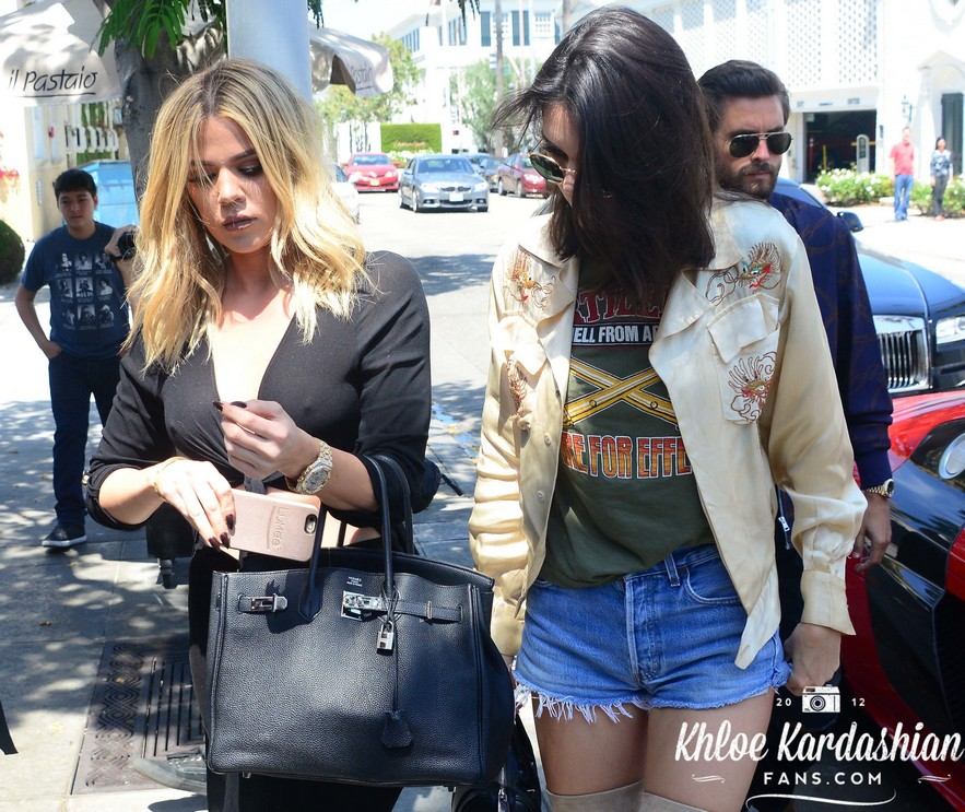 June 13: Khloe lunch with Scott and Kendall
