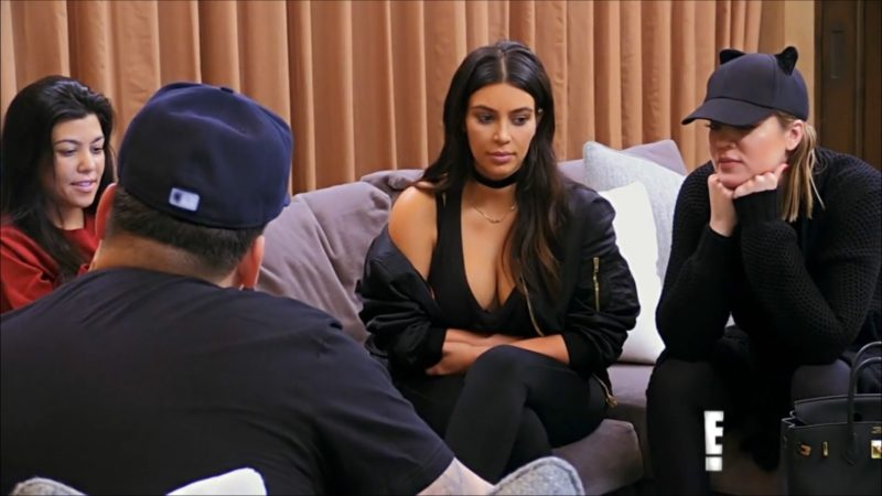 WATCH: Kim, Kourtney and Khloe hash things out with Rob