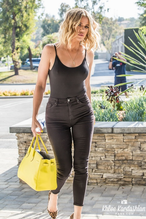 July 12, 2016: Khloe is seen rushing out of a production studio in Los Angeles