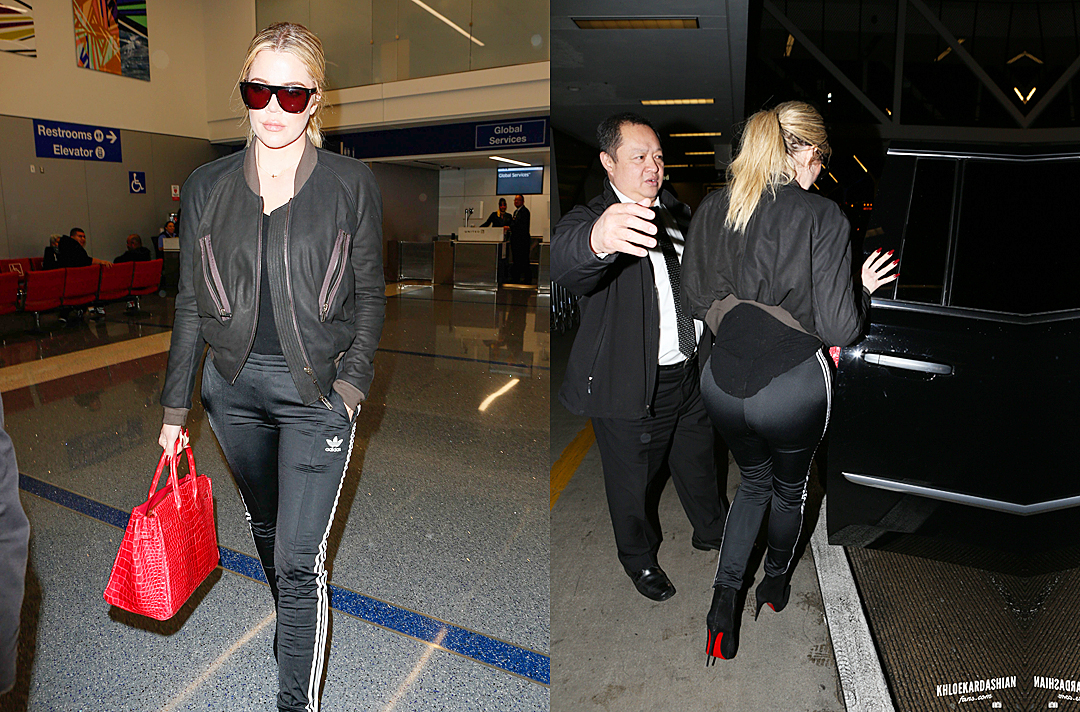PHOTOS: Khloé arrives at Lax airport