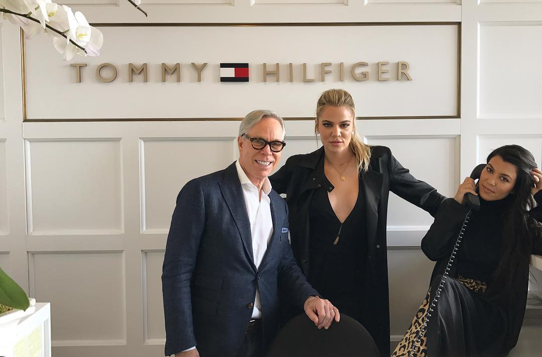 Khloé and Kourtney at Tommy Hilfiger office today!