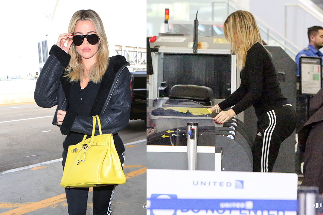 PHOTOS: Khloé arrives at Lax airport to heading Cleveland