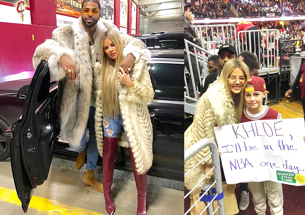 PHOTOS – December 25, 2016: Khloé at Cavs game