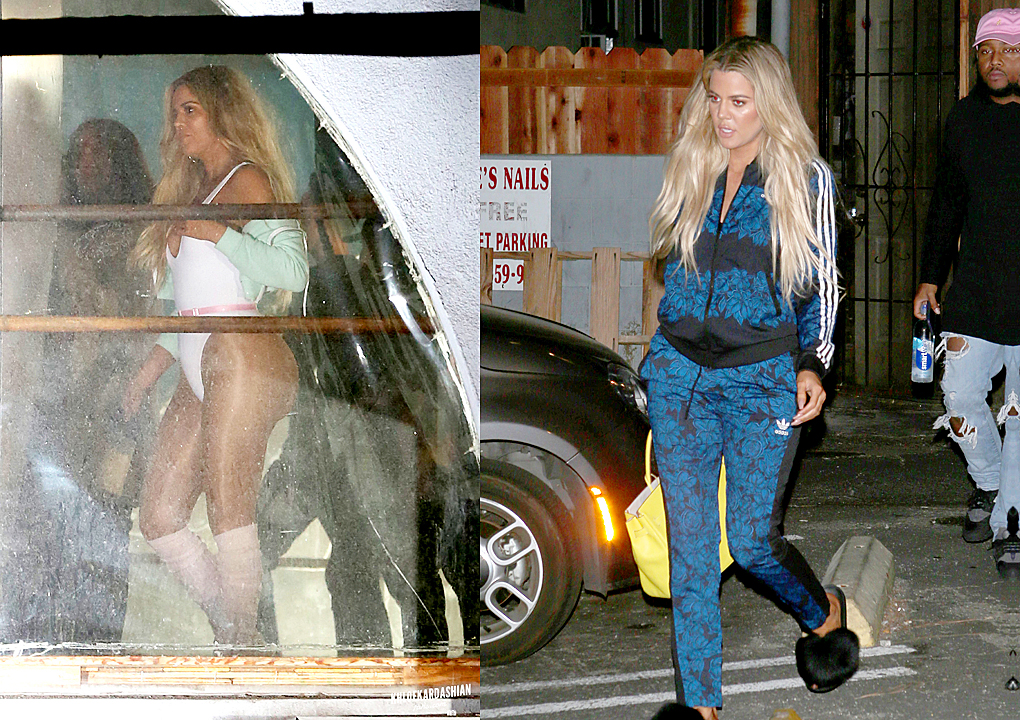 Khloe Kardashian does a Flashdance-style photoshoot