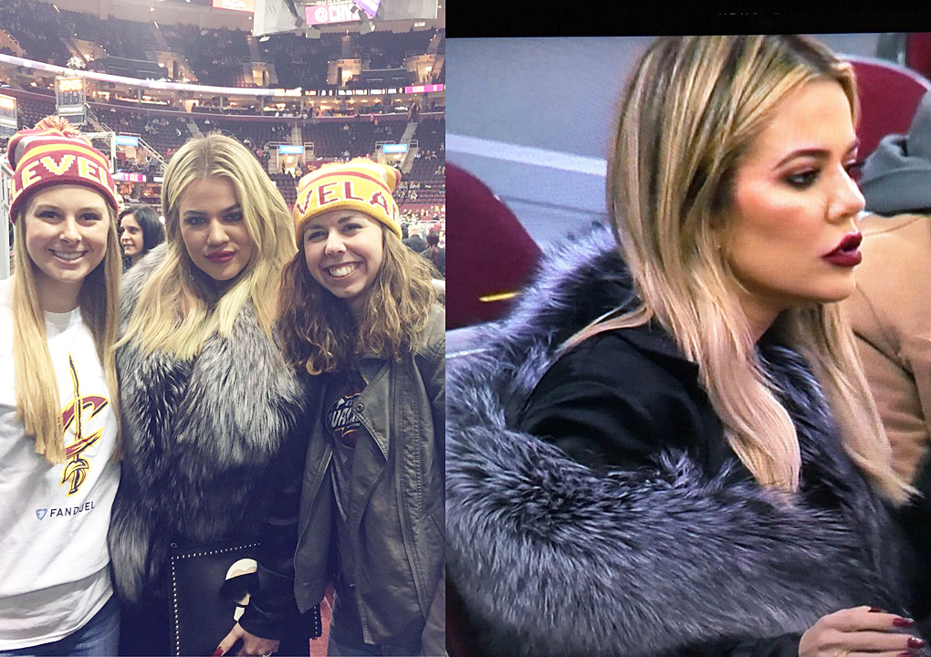 (PICS) December 13, 2016: Khloé at Cavs game