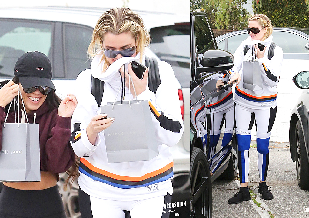Khloe Kardashian & Kourtney leaving Nurse Jamie