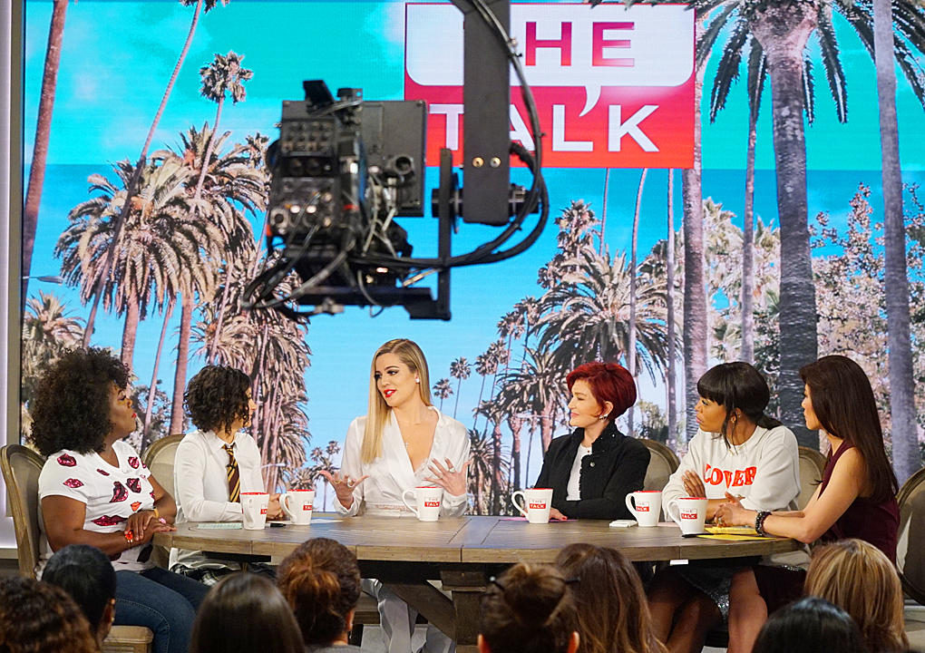 PHOTOS & FULL VIDEO: Khloe Kardashian at The Talk