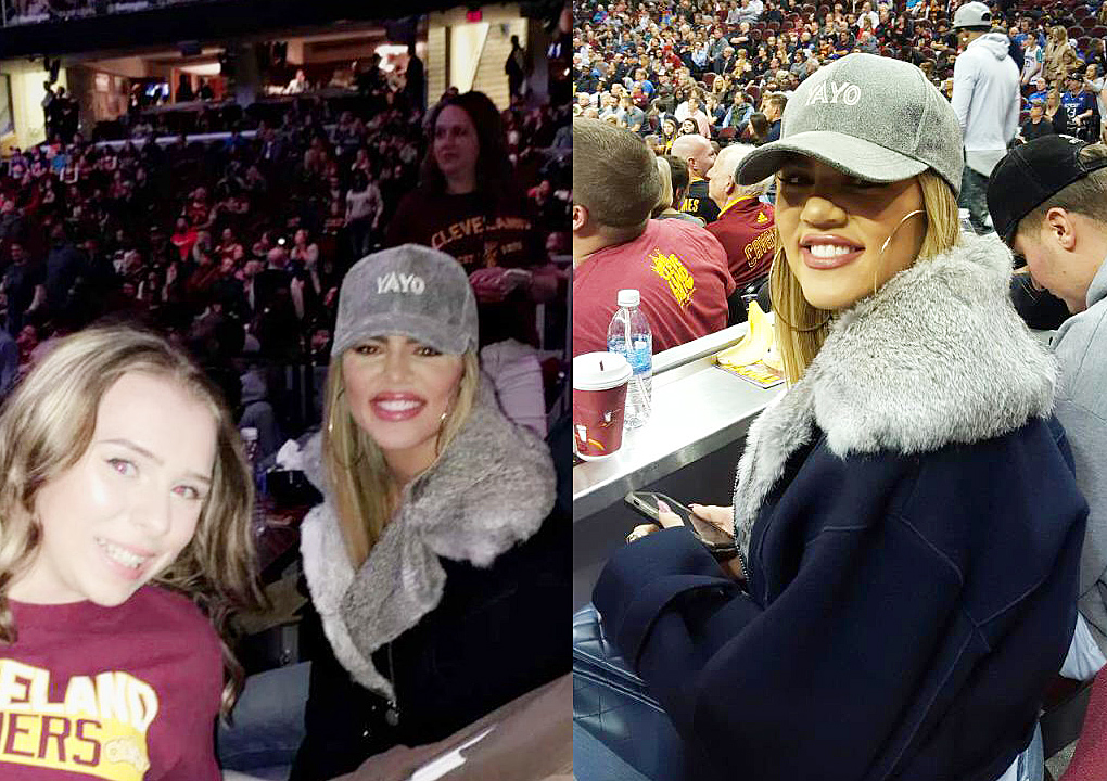 PHOTOS: Khloe Kardashian at Cleveland Cavalier game in Cleveland