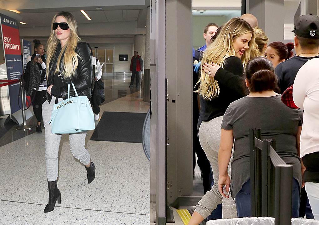 PHOTOS&VIDEOS: Khloe Kardashian at Lax airport in Los Angeles