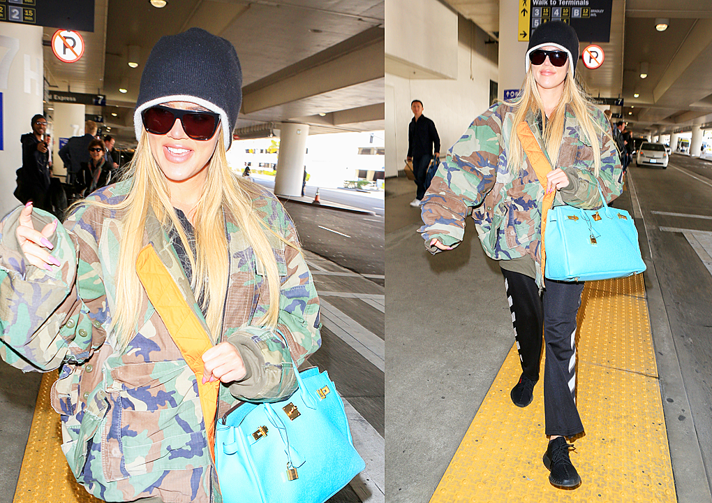 PHOTOS: Khloé Kardashian arrives at Lax airport