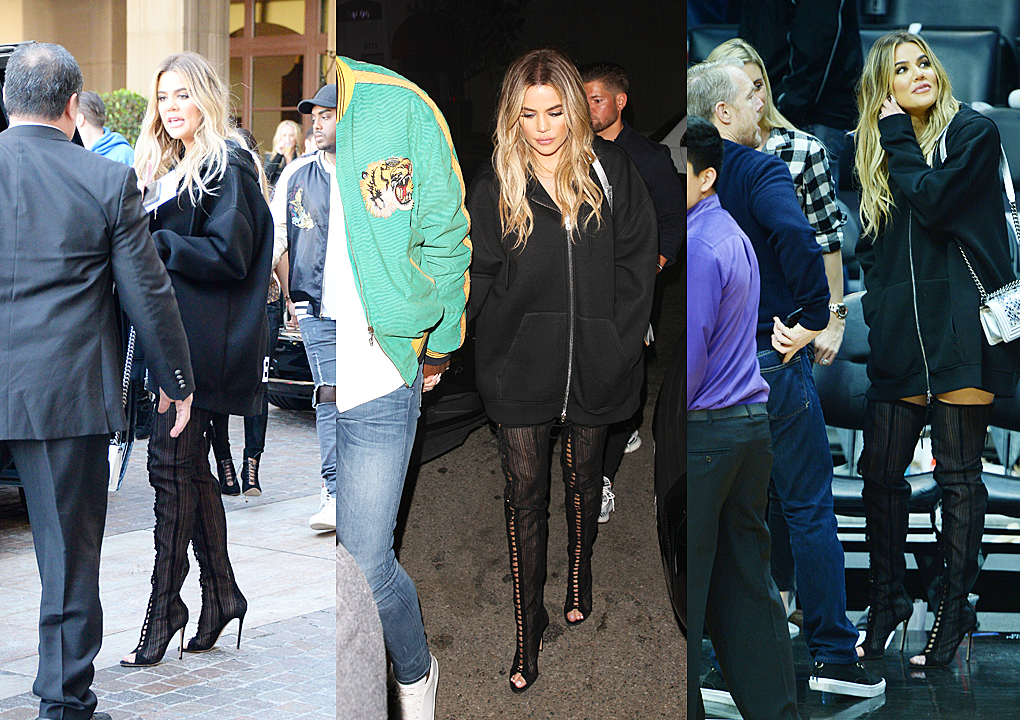 PHOTOS [03/18] Khloe leaves hotel and then heading to the Staples Center