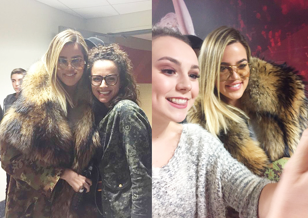 (03/14) PHOTOS&VIDEO: Khloé at Cavs game in Cleveland