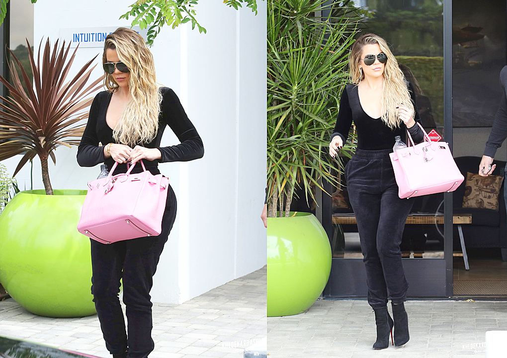 PHOTOS & VIDEO [03/22] Khloe Kardashian leaves E! studio