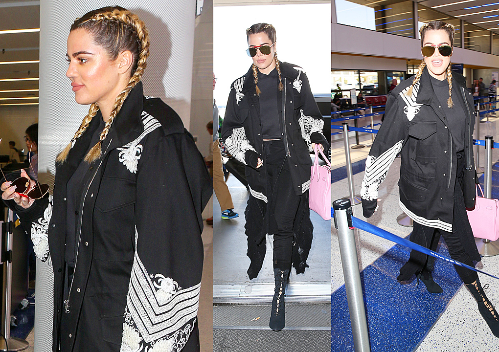 PHOTOS&VIDEO [03/11] Khloe at Lax airport