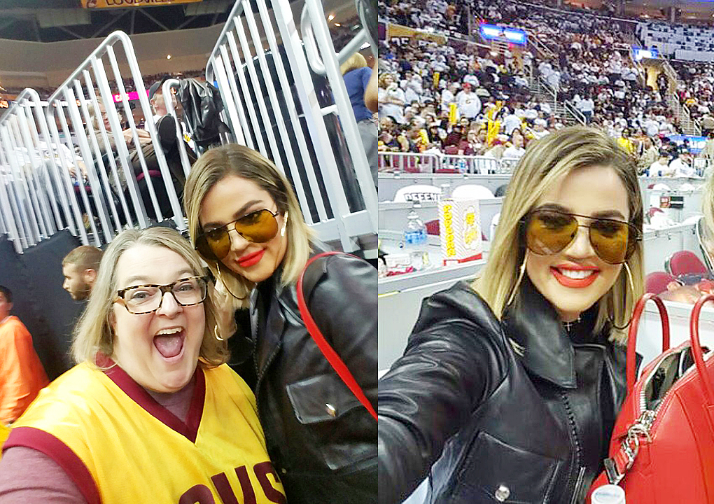 PHOTOS&VIDEOS [04/17] Khloe Kardashian at Cavs game in Cleveland