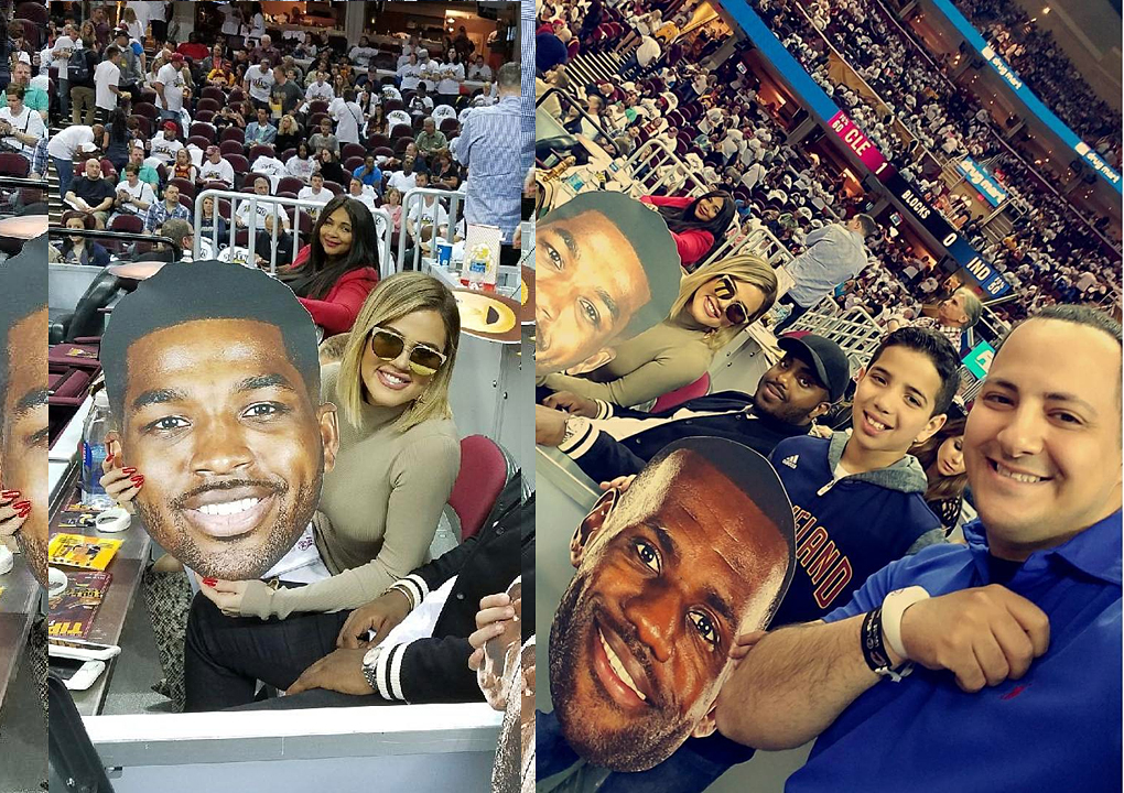 PHOTOS&VIDEOS [04/15] Khloe Kardashian at Cavs game in Cleveland