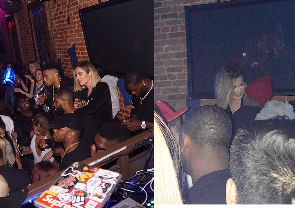 PHOTOS&VIDEOS: 04/12 Khloé at the Barley House in Cleveland