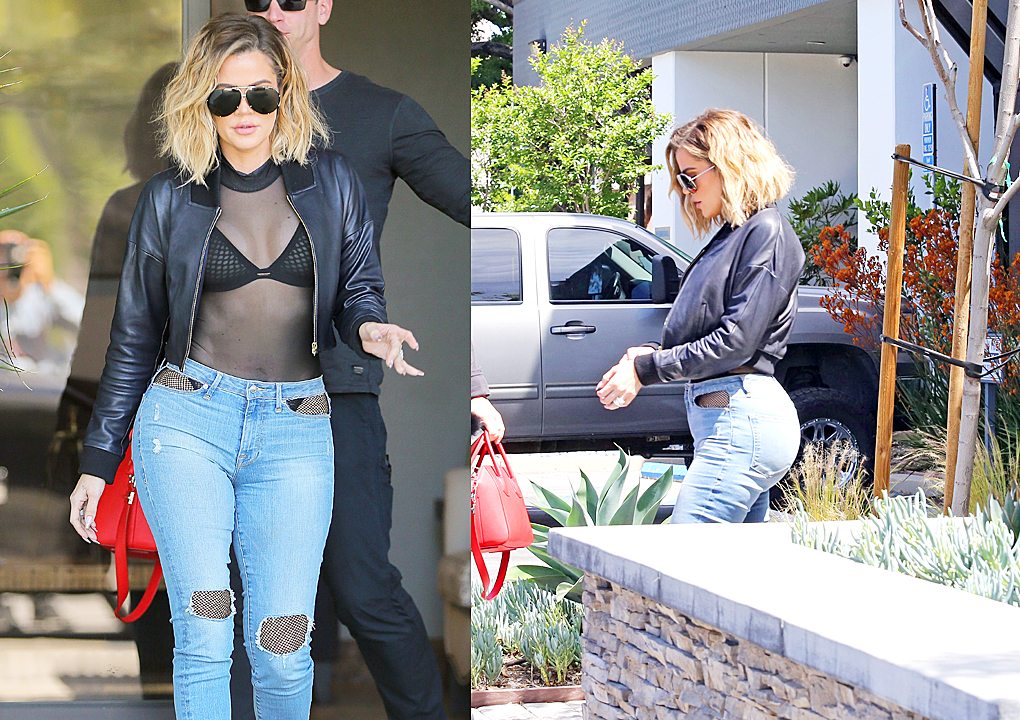 PHOTOS & VIDEO [04/26] Khloe Kardashian leaves E! Studios in Calabasas