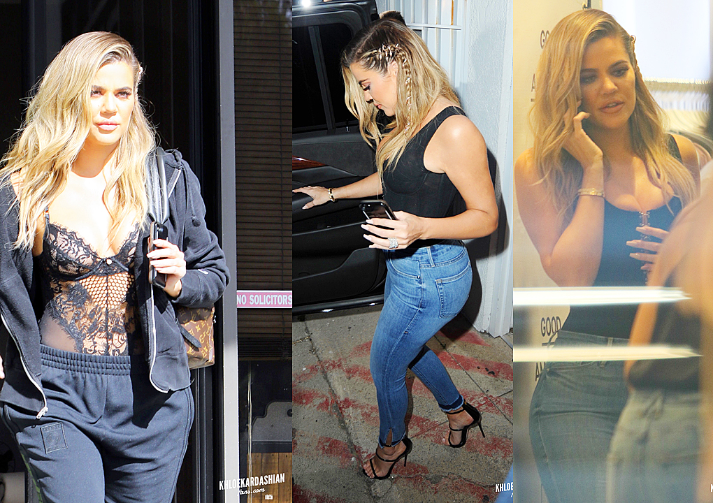 PHOTOS [04/05] Khloe Kardashian at E! studio and then at Dash Store