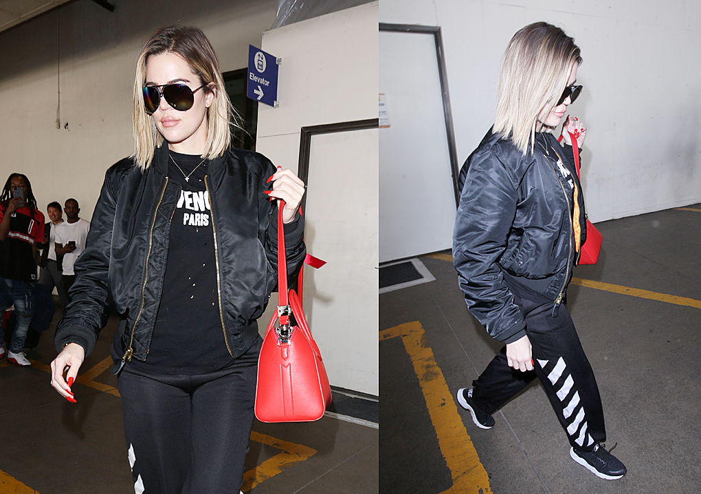 PHOTOS&VIDEO [04/19] Khloe Kardashian arrives at Lax airport from Cleveland