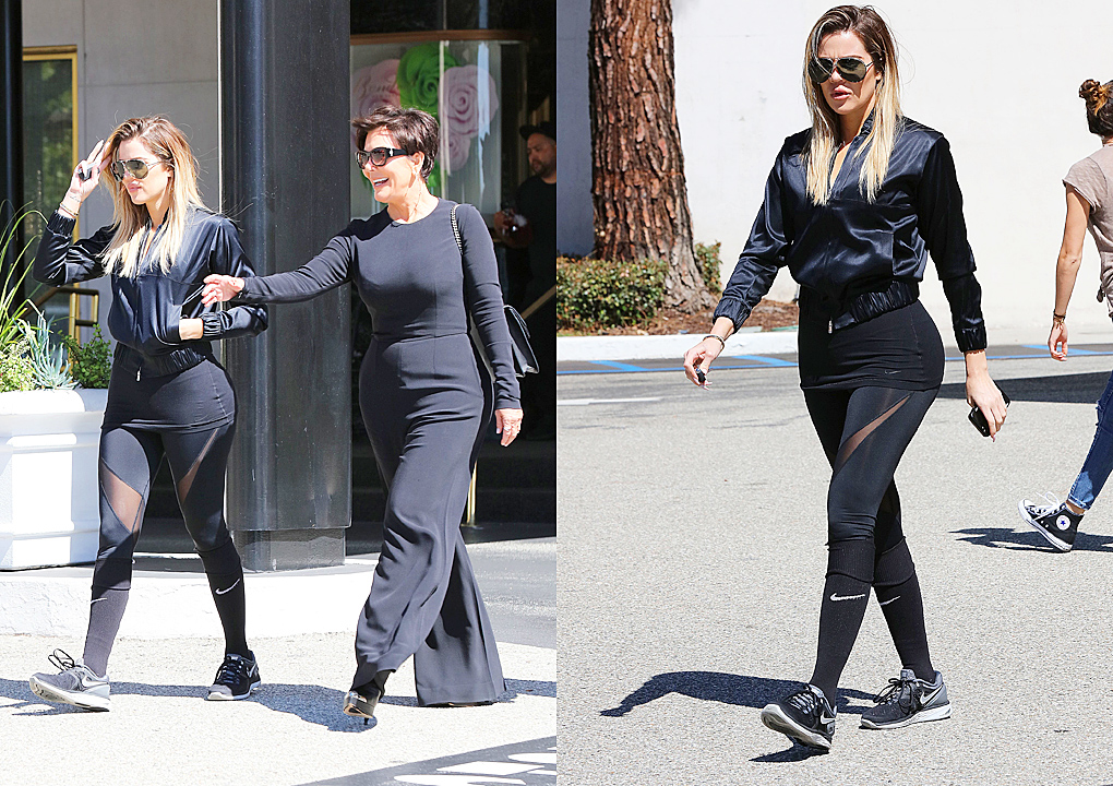 PHOTOS [05/19] Khloé & Kris leaves Saks Fifth Avenue in Beverly Hills
