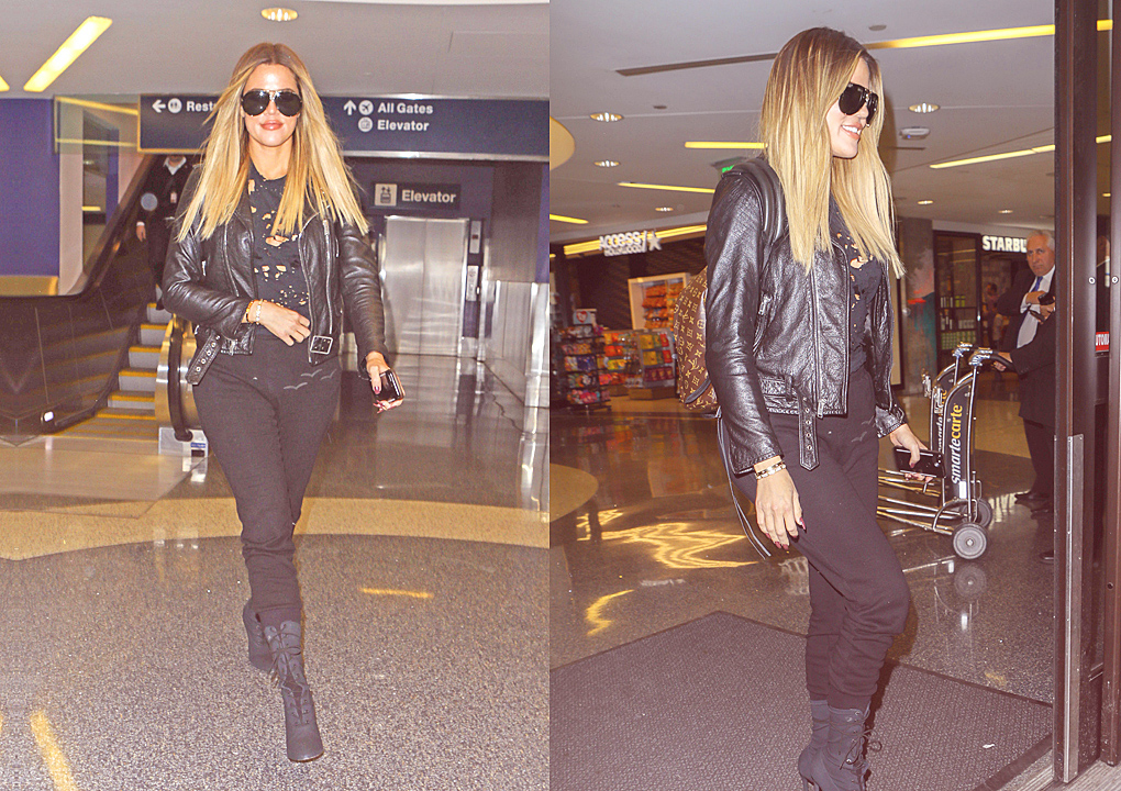 PHOTOS [05/17] Khloé arrives at Lax airport
