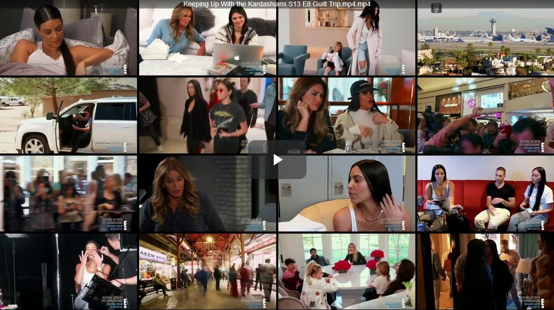 Keeping Up With The Kardashians – Episode 13.08 Guilt Trip  – Video streaming, Caps & Ratings
