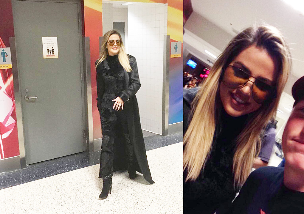 PHOTOS [05/1] Khloe Kardashian at Cavs game in Cleveland