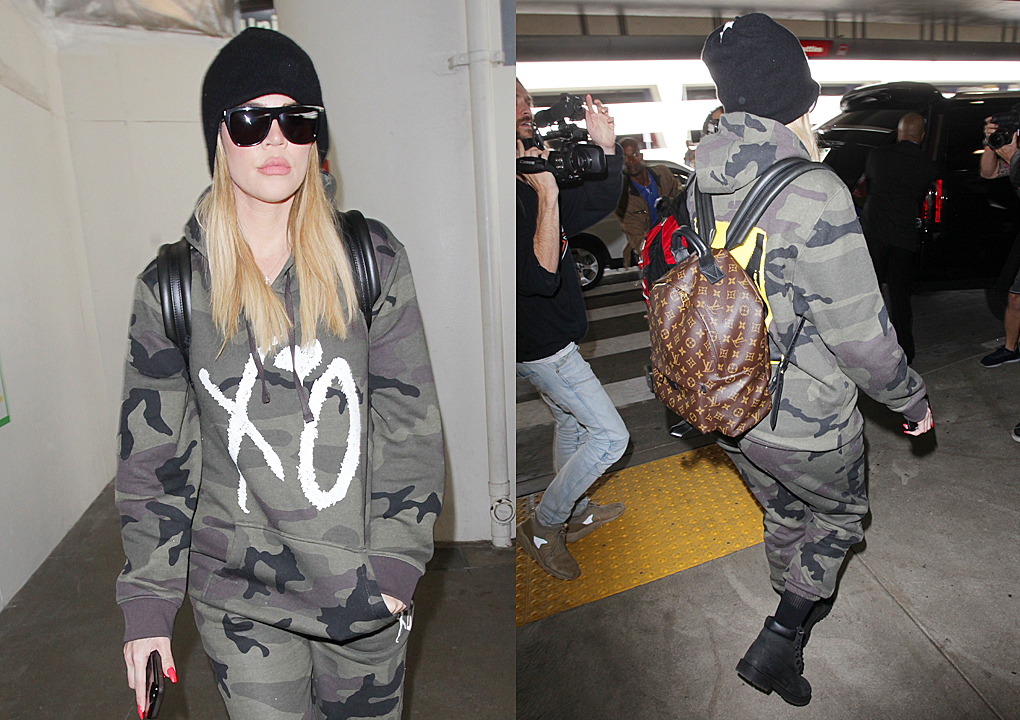 PHOTOS & VIDEOS [05/11] Khloé Kardashian arrives back at Lax airport