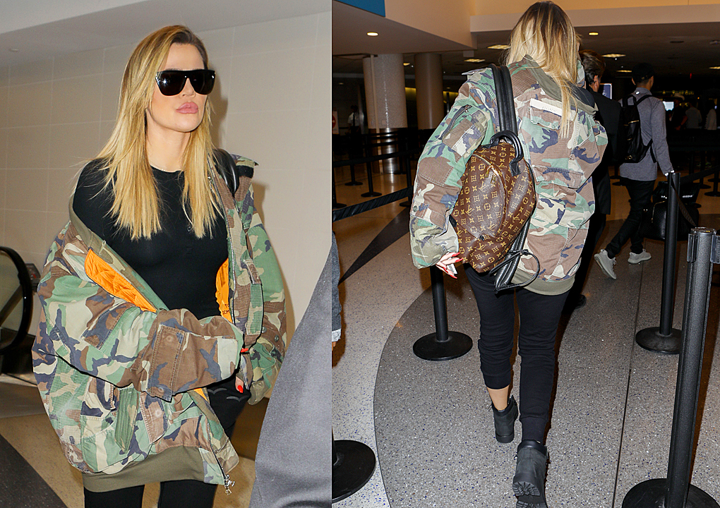 PHOTOS [05/08] Khloe Kardashian arrives at Lax airport