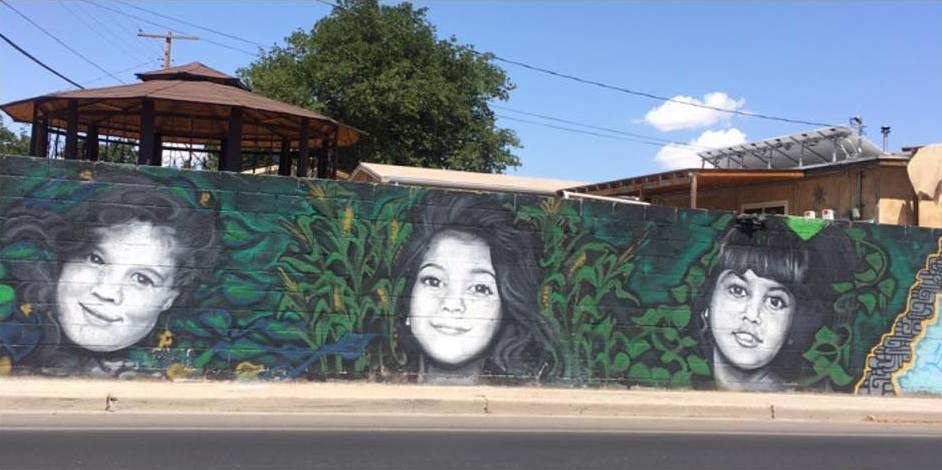 Kardashian sisters depicted in a Las Cruces mural