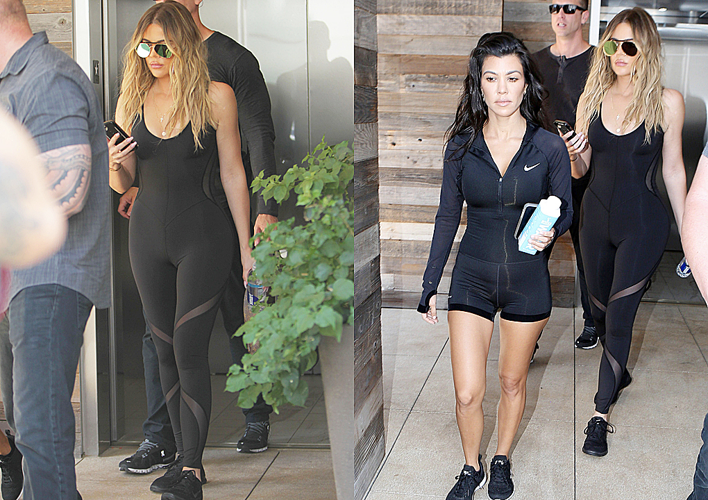 PHOTOS | June 23, 2017 – Khloe Kardashian & Kourtney Kardashian arrive at a dance class