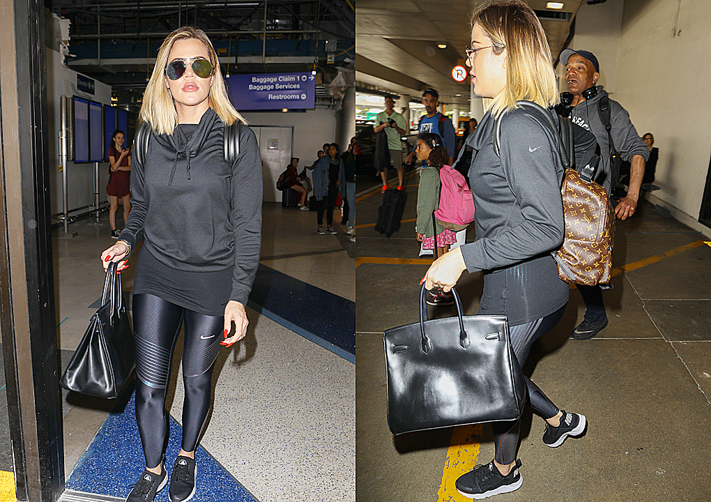PHOTOS & VIDEO June 21, 2017 –  Khloe Kardashian arrives at Lax airport in Los Angeles