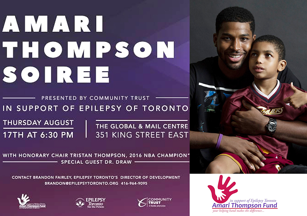 Amari Thompson Soiree in support of Epilepsy Toronto on Thursday August 17th, 2017