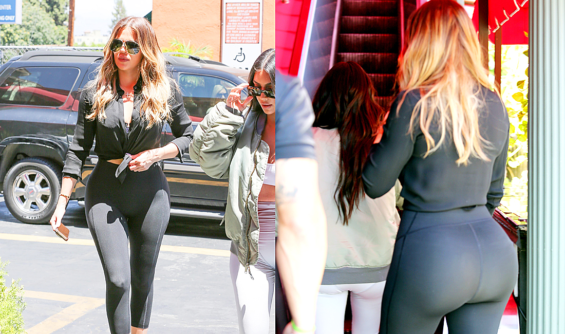 PHOTOS & VIDEO | July 26, 2017 – Khloé Kardashian & Kim Kardashian lunch at Chin Chin