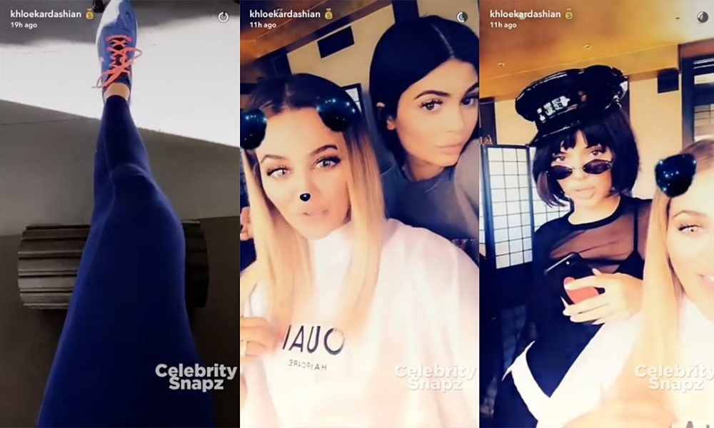 |SNAPCHAT| Khloe Kardashian | August 07, 2017 | At Home & then with Kendall and Kylie