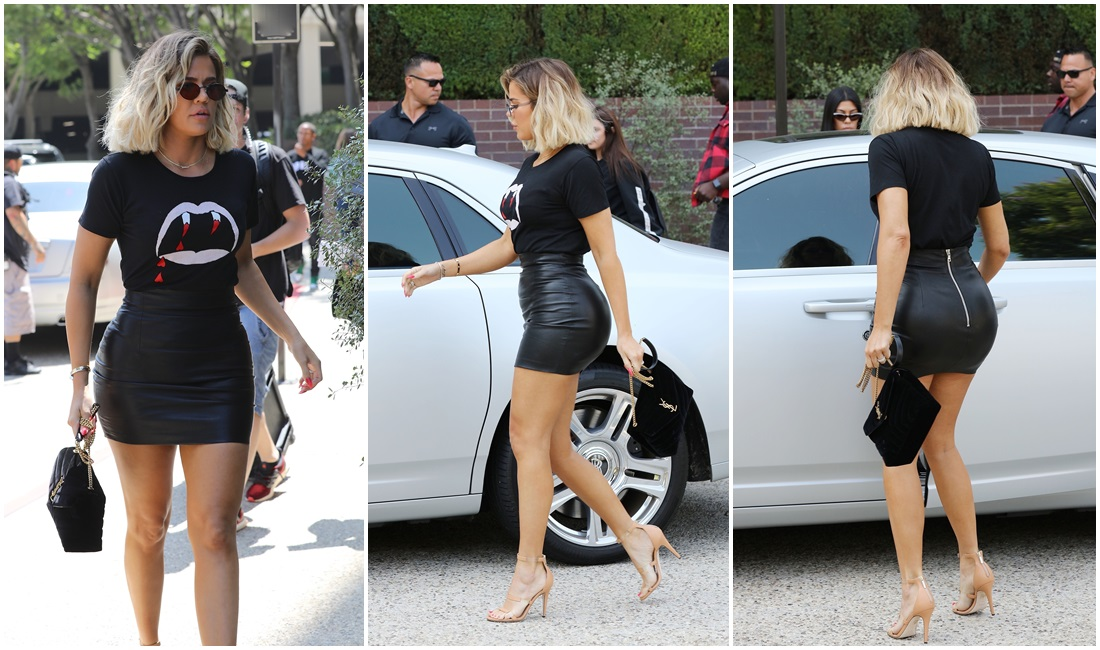 PHOTOS & VIDEOS    August 24, 2017 – Khloé Kardashian lunch with sisters in Studio City