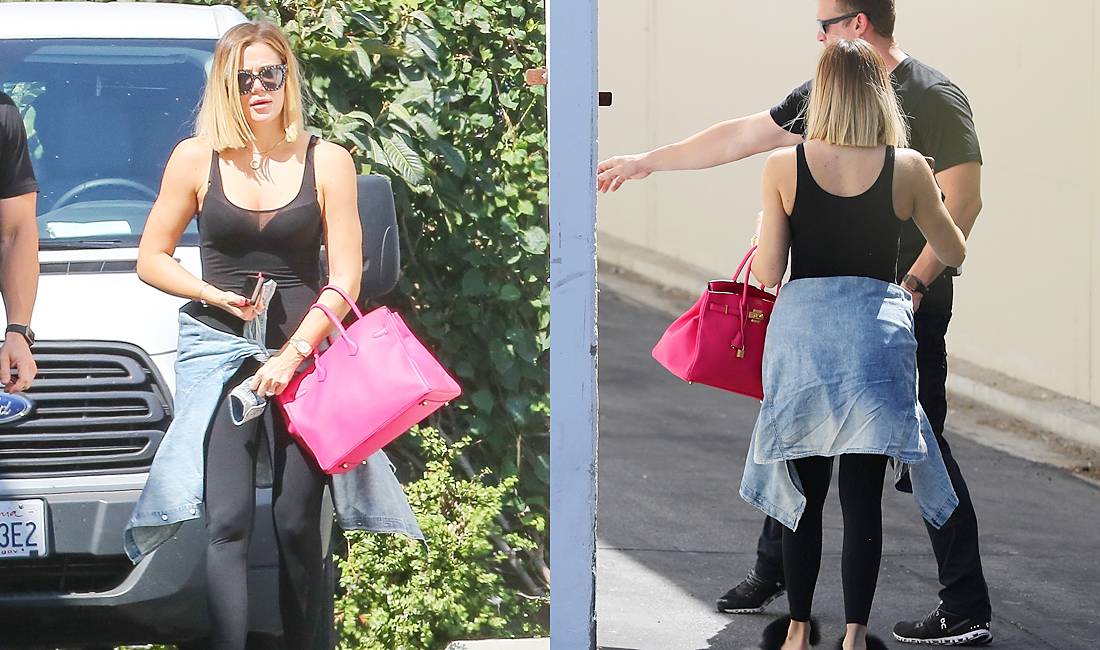 PHOTOS & VIDEO | August 30, 2017 – Khloé Kardashian at Independence Studio in Woodland Hills