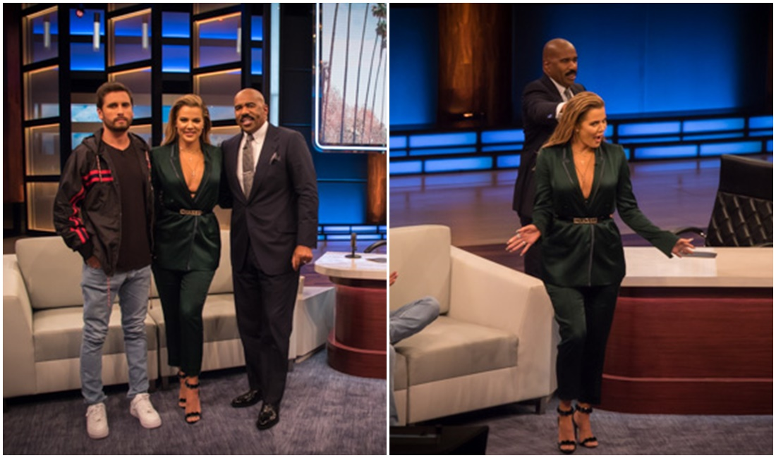 VIDEO+PHOTOS: Khloé Kardashian & Scott Disick at Steve Harvey Show