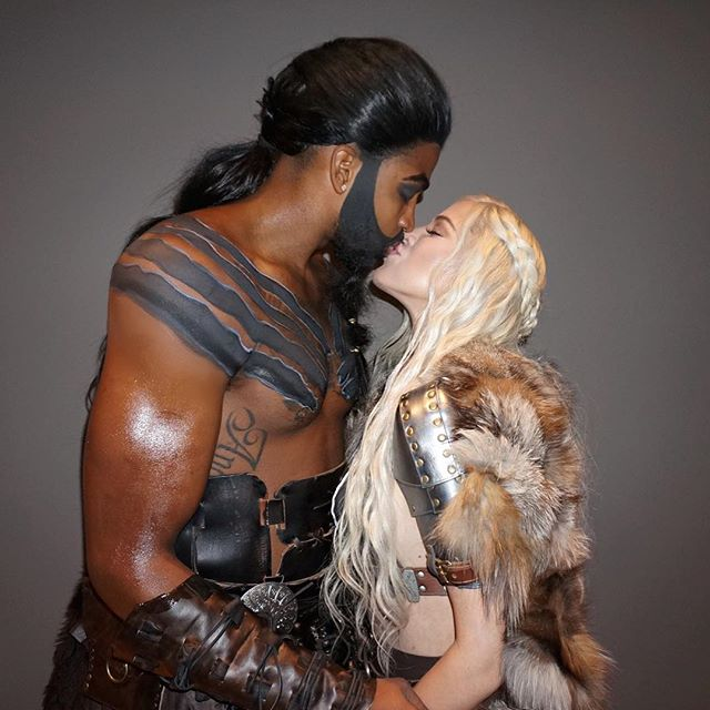 PHOTOS & VIDEO | October 30, 2017 – Khloe Kardashian & Tristan Thompson at LeBron James' annual Halloween party in Cleveland