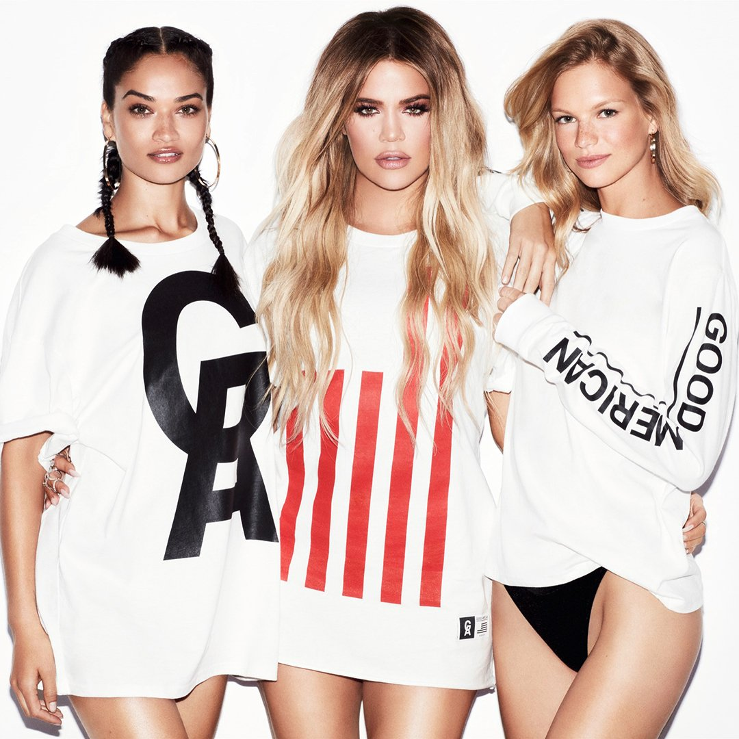 khloe kardashian graphic tees good american
